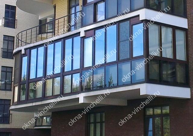 Остекление балконов деревом, остекление лоджий, деревянное о.