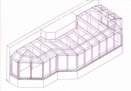 Остекление террасы на 2 этаже