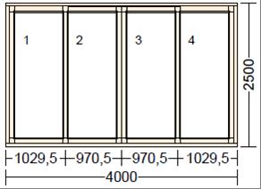 Раздвижное деревянное окно LI-2