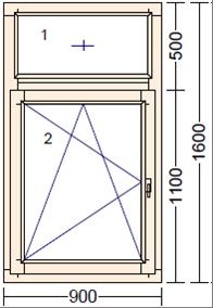 Окно деревянное Дуб Moderno FR-1