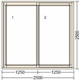 Раздвижное деревянное окно из дуба LI-1