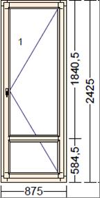 Деревянное окно из дуба Moderno PO-3