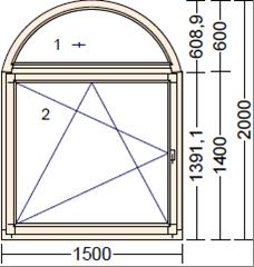 Деревянное окно из сосны Moderno AR-1