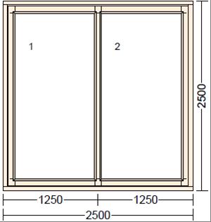 Раздвижное деревянное окно из дуба LI-3