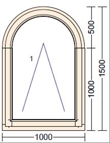 Дерево-алюминиевое окно из лиственницы AL-7