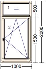 Дерево-алюминиевое окно из дуба AL-11