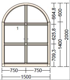 Окно из лиственницы Moderno AR-3