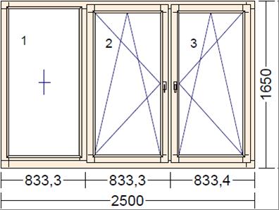 Деревянное окно из дуба BKLN-1