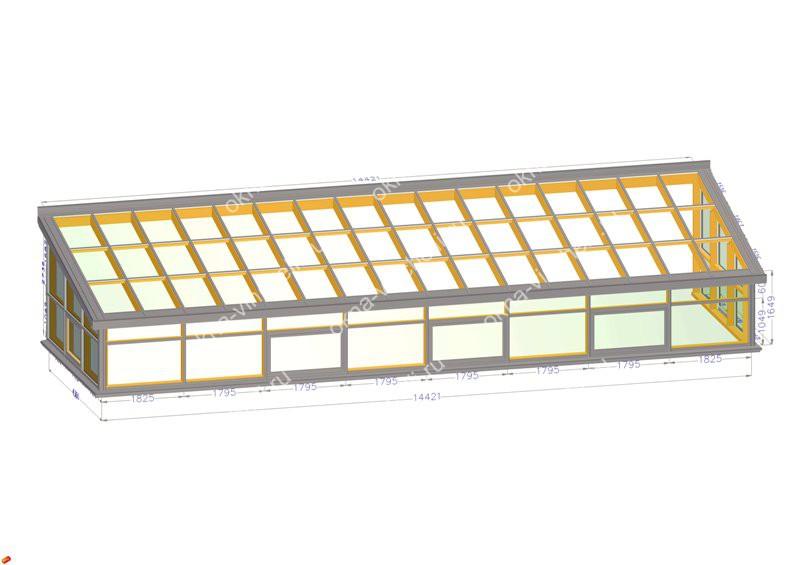 Пристройка (стеклянная крыша)