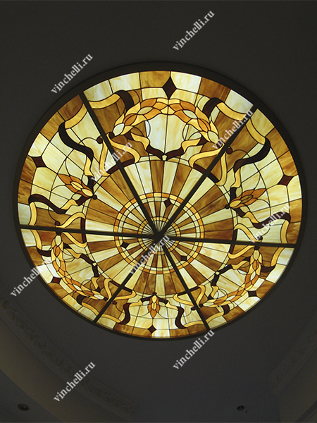 Витраж Тиффани на потолок