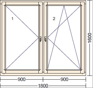 Деревянное окно из лиственницы Mod PO-1