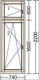 Деревянное окно из лиственницы Mod PO-3